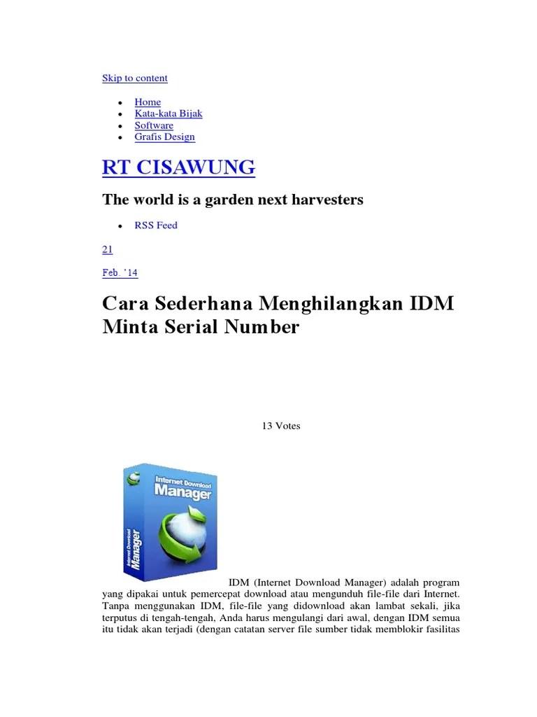 Idm Minta Serial Number : minta, serial, number, Mengatasi, Sudah, Kadaluarsa