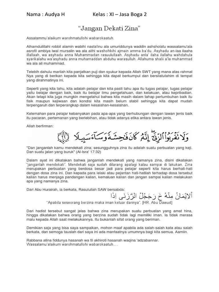 Ayat Jangan Mendekati Zina : jangan, mendekati, Jangan, Dekati
