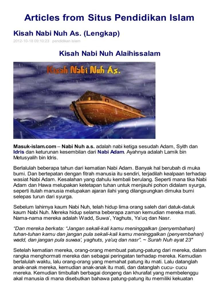 Kisah Nabi Nuh Lengkap : kisah, lengkap, 03.Kisah, A.S.pdf