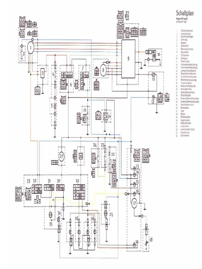yamaha dt 125 r wiring diagram electrical wiring diagrams yamaha tt 250 wiring diagram yamaha dt 100 wiring diagram [ 768 x 1024 Pixel ]