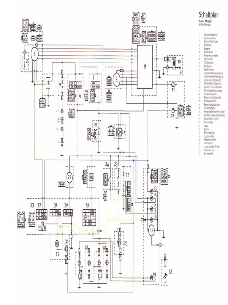 medium resolution of yamaha dt 125 r wiring diagram electrical wiring diagrams yamaha tt 250 wiring diagram yamaha dt 100 wiring diagram