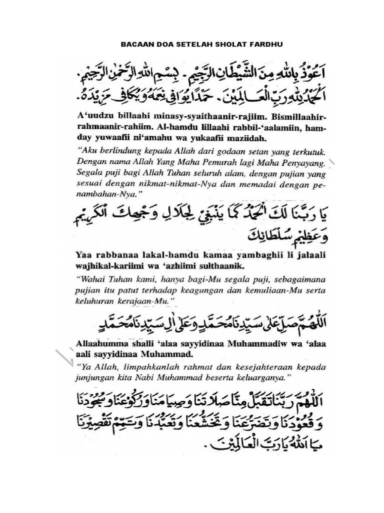 Dzikir & Doa Setelah Sholat Fardhu (PDF)