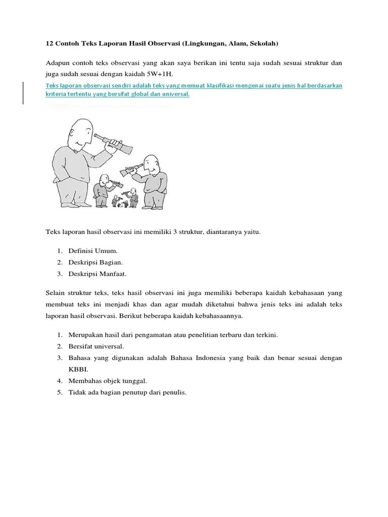 Contoh Teks Lho Tentang Lingkungan Sekolah Sma Berbagai Teks Penting Cute766