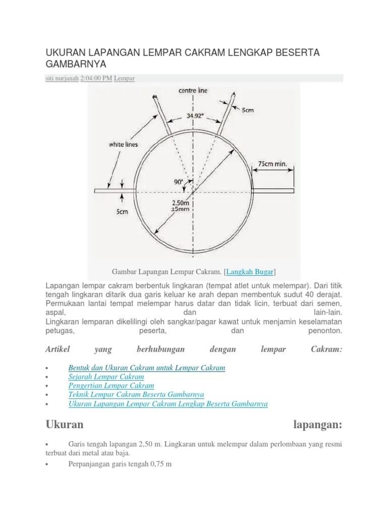 Bentuk Lapangan Lempar Cakram : bentuk, lapangan, lempar, cakram, Ukuran, Lapangan, Lempar, Cakram, Lengkap, Beserta, Gambarnya