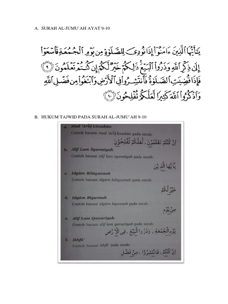 Kandungan Surah Al Jumu Ah Ayat 9 10 : kandungan, surah, Kandungan, Surah, Bersama