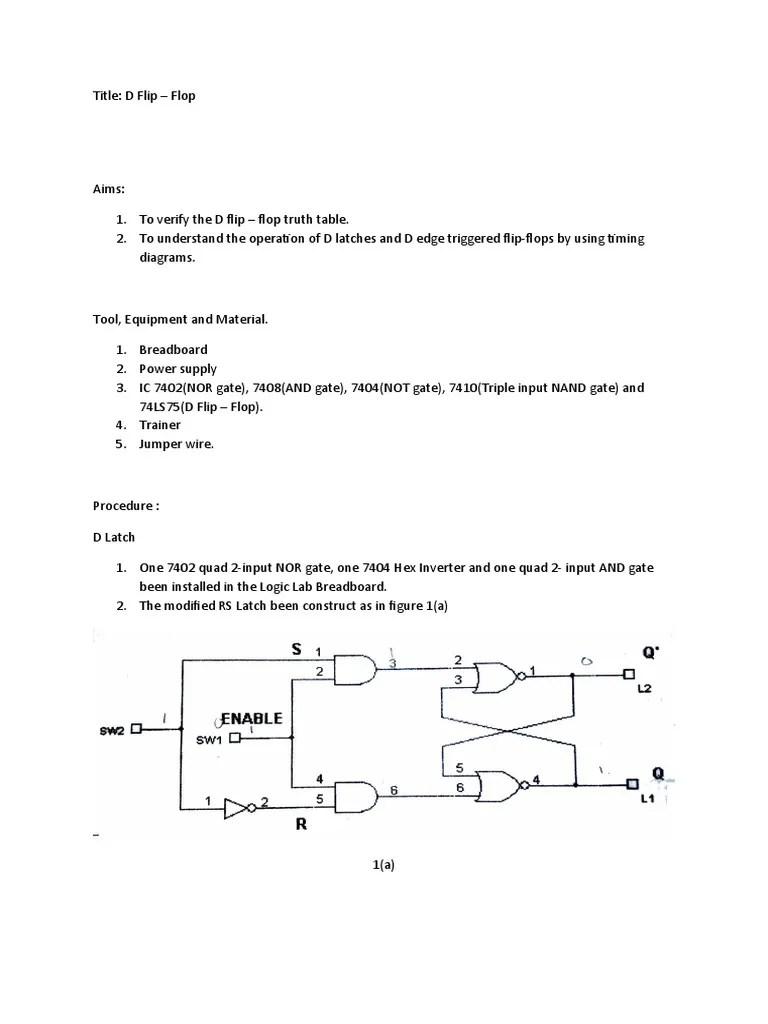 logic diagram for d flip flop [ 768 x 1024 Pixel ]