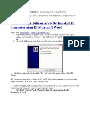 Download Aplikasi Menulis Arab Di Komputer : download, aplikasi, menulis, komputer, Menulis, Tulisan, Berharakat, Komputer, Microsoft