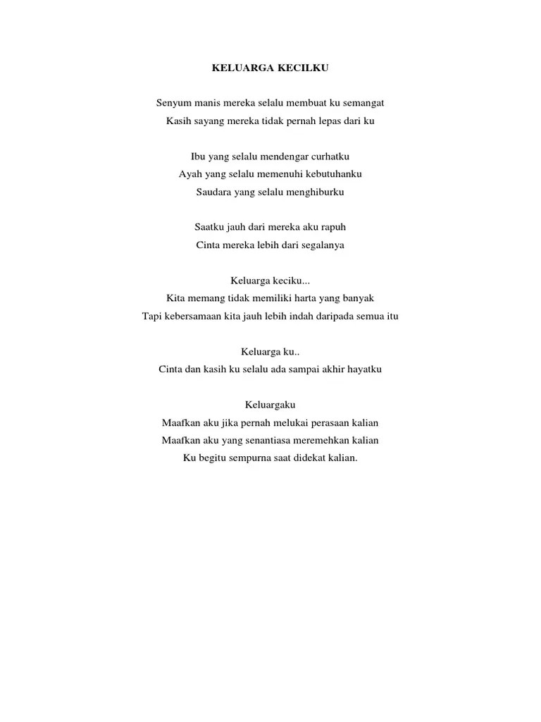 Puisi Keluargaku : puisi, keluargaku, Puisi, Tentang, Keluarga
