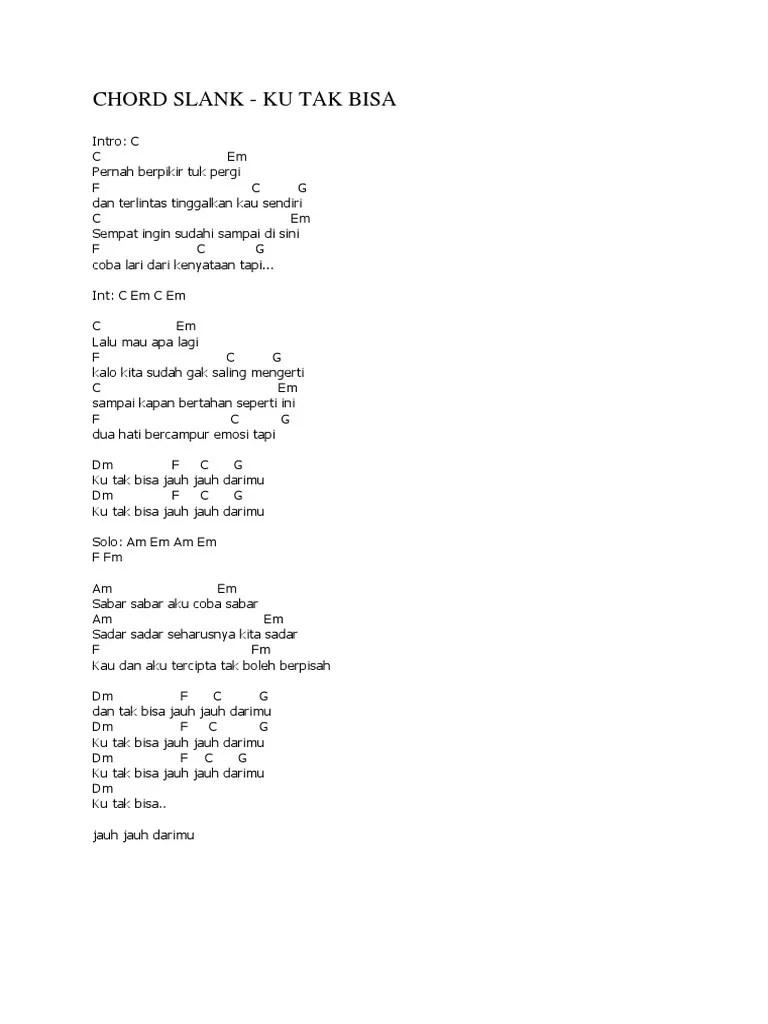 Kunci Gitar Slank Ku Tak Bisa Jauh : kunci, gitar, slank, Slank
