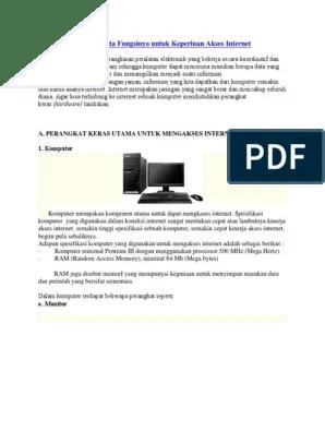 Perangkat Akses Internet Dan Fungsinya : perangkat, akses, internet, fungsinya, Perangkat, Keras, Beserta, Fungsinya, Untuk, Keperluan, Akses, Internet