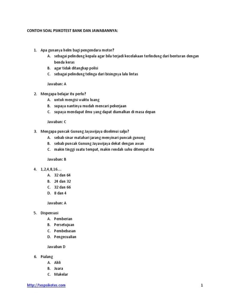 Contoh Soal Psikotes : contoh, psikotes, Contoh-soal-tes-psikotes-bank.pdf