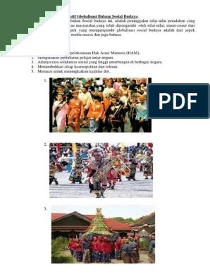 15 Contoh dan Dampak Globalisasi Dalam Bidang Budaya