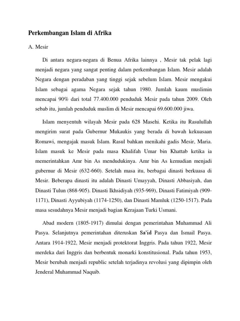 Sejarah Perkembangan Islam Di Afrika : sejarah, perkembangan, islam, afrika, Perkembangan, Islam, Afrika