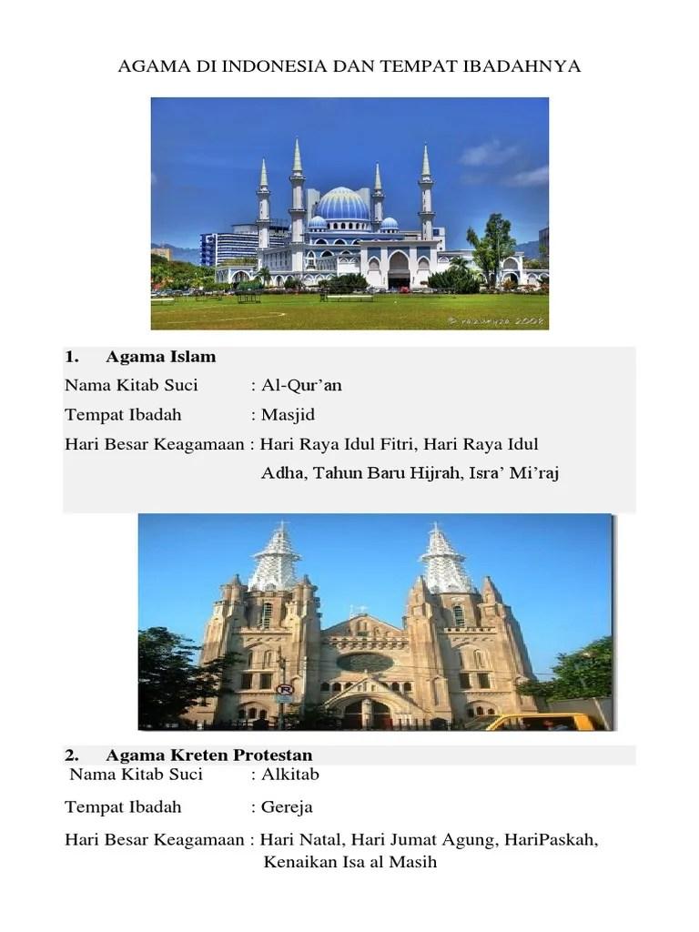 Hari Raya Agama Islam : agama, islam, AGAMA, INDONESIA, TEMPAT, IBADAHNA.docx