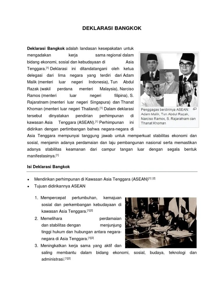 Isi Deklarasi Bangkok : deklarasi, bangkok, Deklarasi, Bangkok