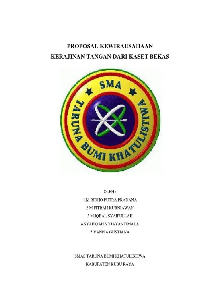 Proposal Kewirausahaan Kerajinan Tangan : proposal, kewirausahaan, kerajinan, tangan, Proposal, Usaha, Kerajinan, Tangan