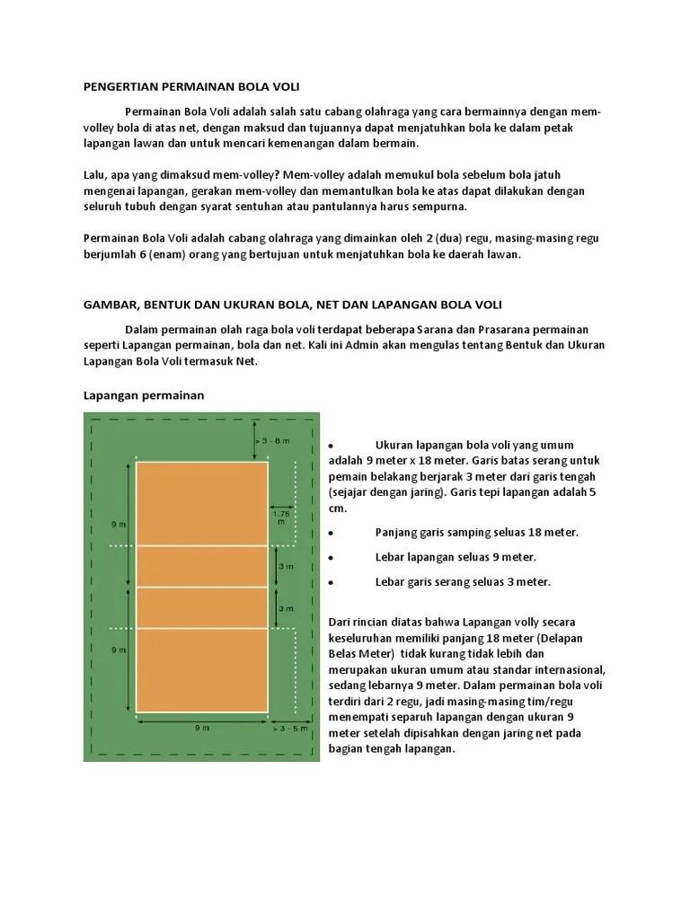 Pengertian Olahraga Bola Voli : pengertian, olahraga, Pengertian, Permainan
