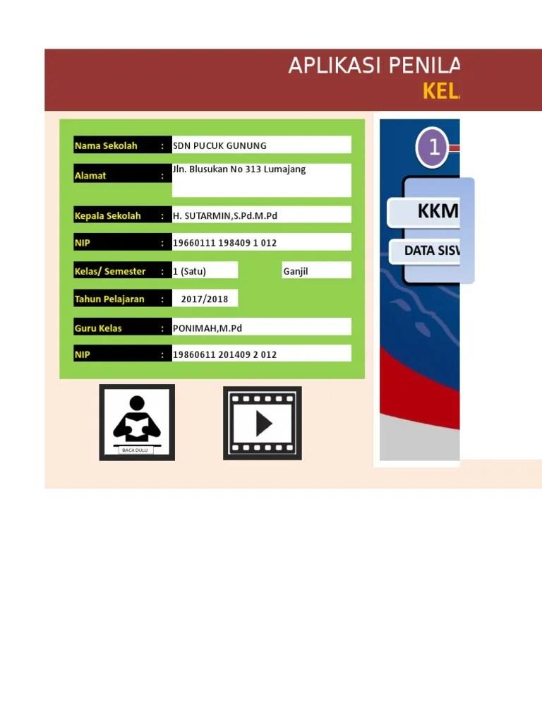 Aplikasi Raport K13 Kelas 1 Semester 2 : aplikasi, raport, kelas, semester, Aplikasi, Raport, Kelas, Revisi, Finis