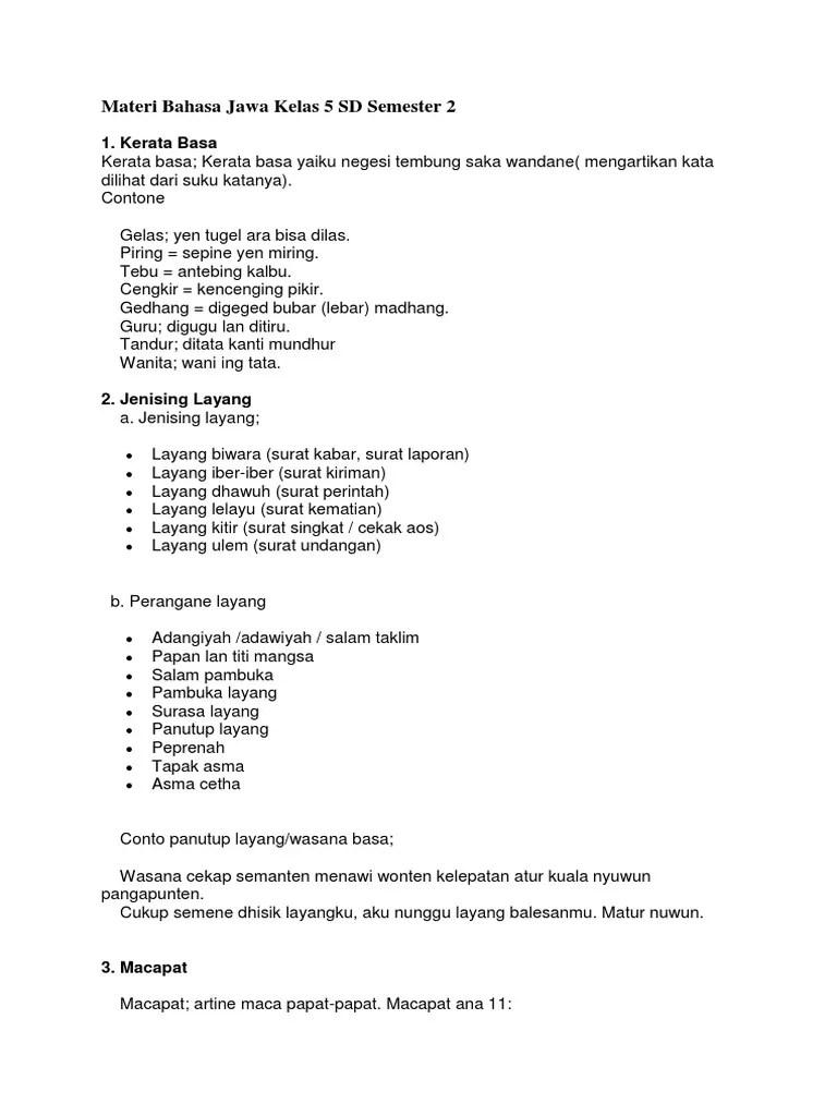 Jumlah soal sebanyak 10 essay. Materi Bahasa Jawa Kelas 7 Semester 2 Kurikulum 2013 Cara Golden
