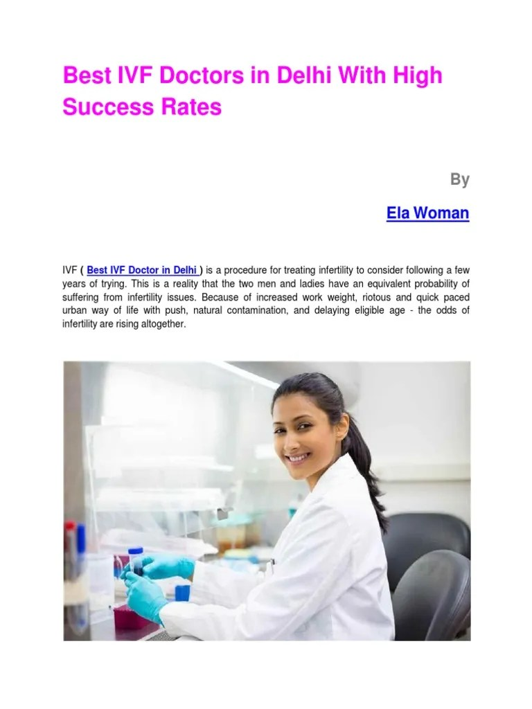 Best IVF Doctors in Delhi With High Success Rates   In ...