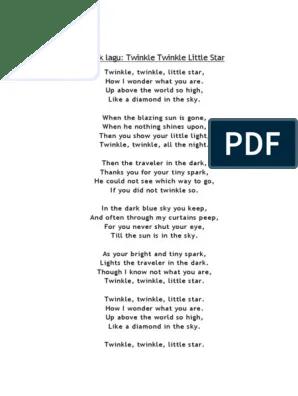 Lirik Twinkle : lirik, twinkle, Twinkle, Little, Sekali