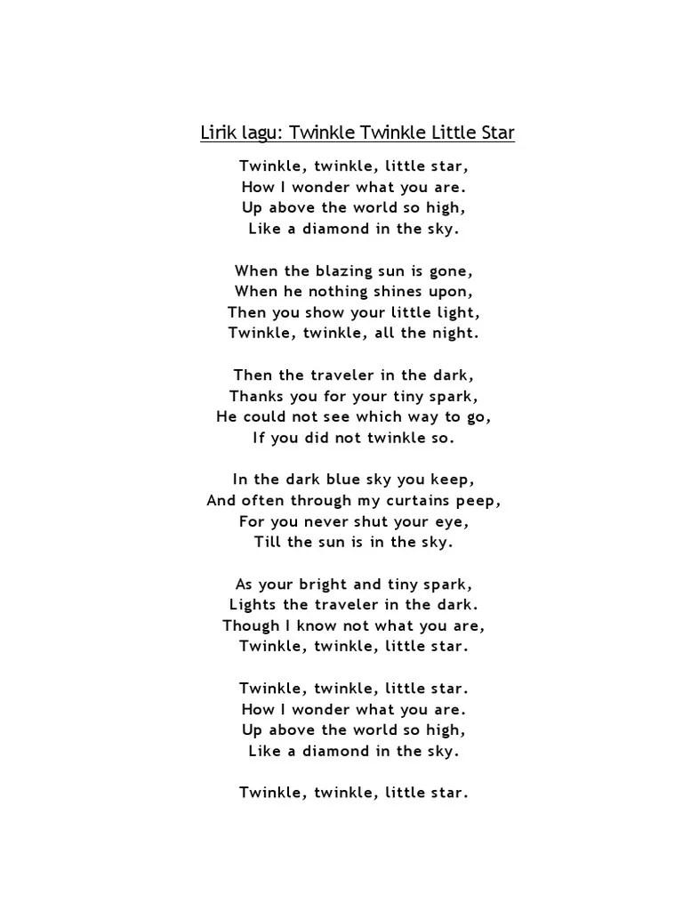 Lirik Twinkle : lirik, twinkle, Lirik, Twinkle2, Tradisional, Ninabobo