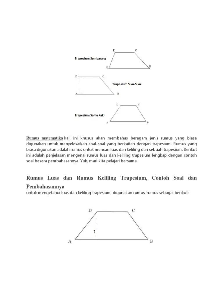 Rumus Trapesium Sama Kaki : rumus, trapesium, Rumus, Trapesium