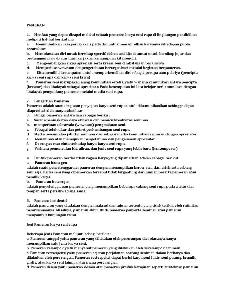 Bentuk Bentuk Pameran : bentuk, pameran, MATERI-PAMERAN, BUDAYA