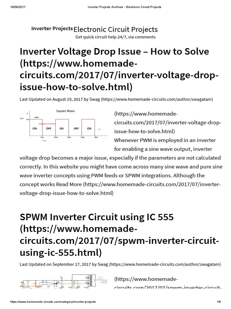 medium resolution of inverter projects archives electronic circuit projects power inverter force