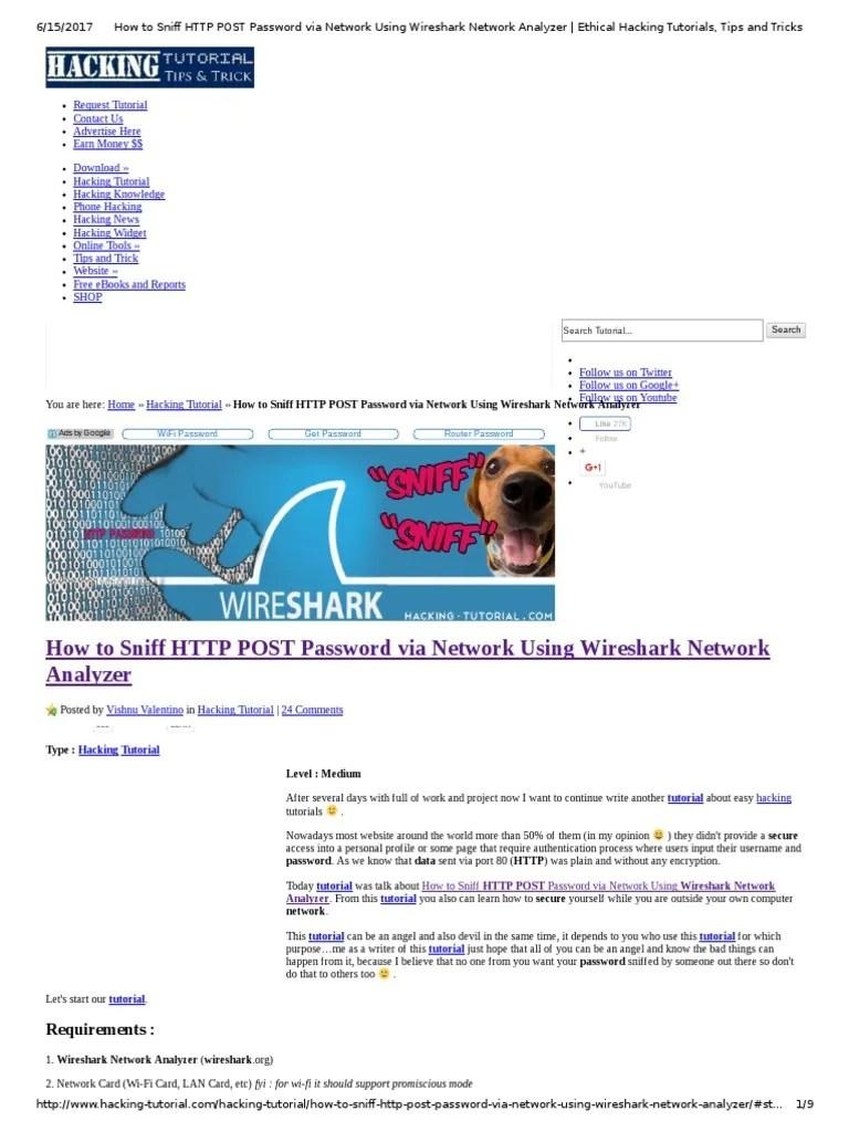 Tutorial Wireshark Hack Wifi : tutorial, wireshark, Sniff, Password, Network, Using, Wireshark, Analyzer, Ethical, Hacking, Tutorials,, Tricks, Computer