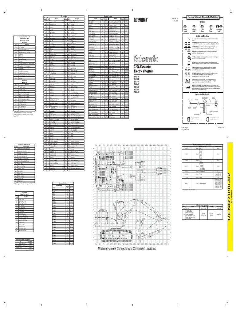 hight resolution of 320c hydraulic excavator electrical schematic pdf switch electrical connector
