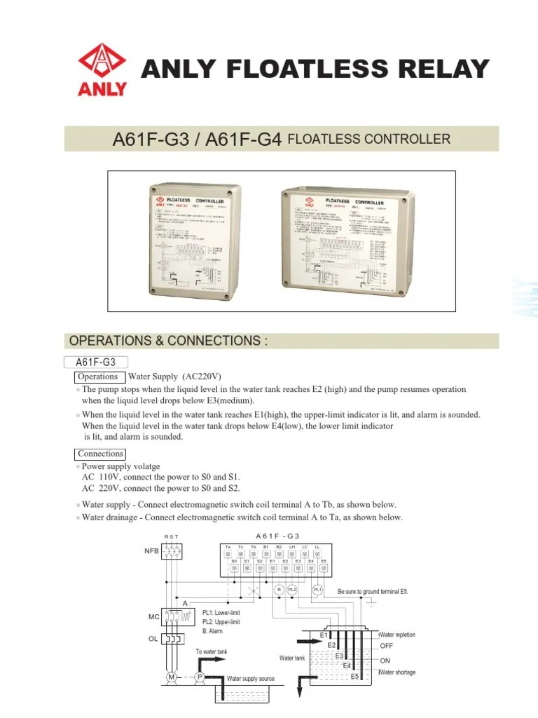 small resolution of anly floatless relay 5 8 rod electrical equipment electrical components