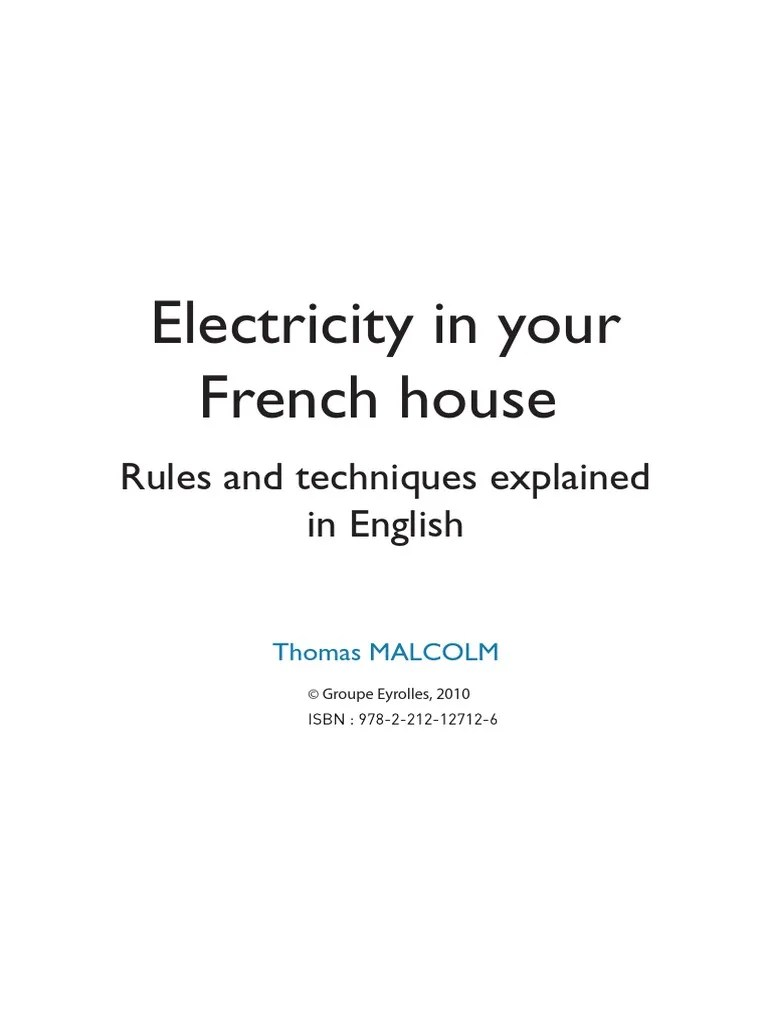 electricity in your french house pdf ac power plugs and sockets electrical wiring [ 768 x 1024 Pixel ]