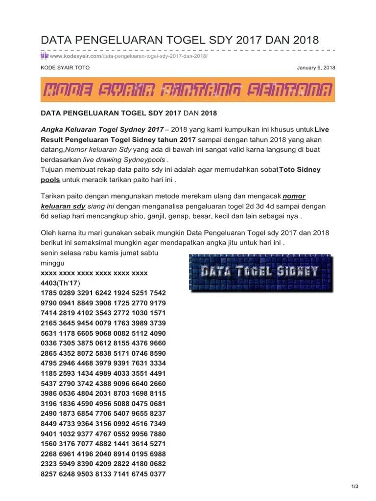 Daftar Pengeluaran Sydney : daftar, pengeluaran, sydney, Kodesyair.com-data, Pengeluaran, Togel
