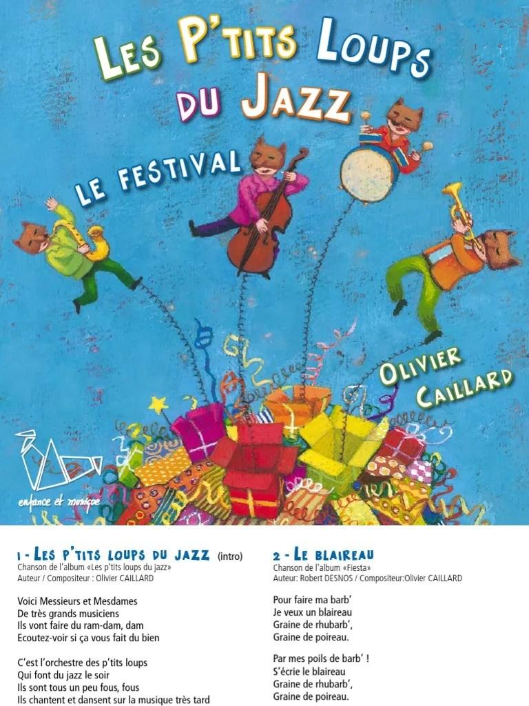 Les Ptits Loups Du Jazz : ptits, loups, Album, Fiesta, Petits, Loups, Loisirs, Divertissement, (Général)