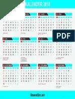PDF Kalender 2018 & Feestdagen 2018