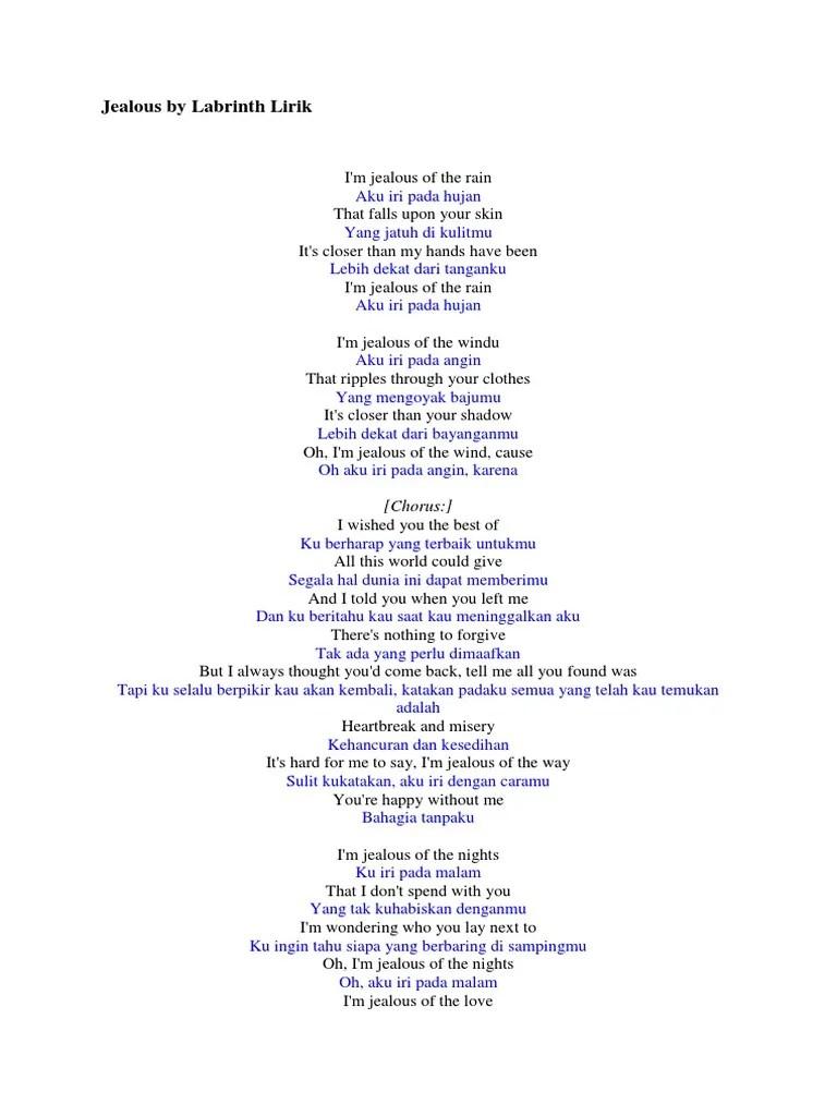Lirik Dan Terjemahan Jealous Labrinth : lirik, terjemahan, jealous, labrinth, Lirik, Jealous, Labrinth, Terjemahan