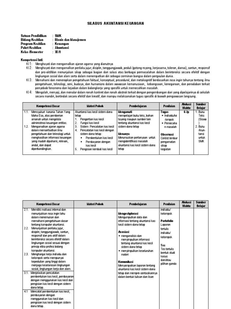Silabus Akuntansi Keuangan Kelas Xi Cute766