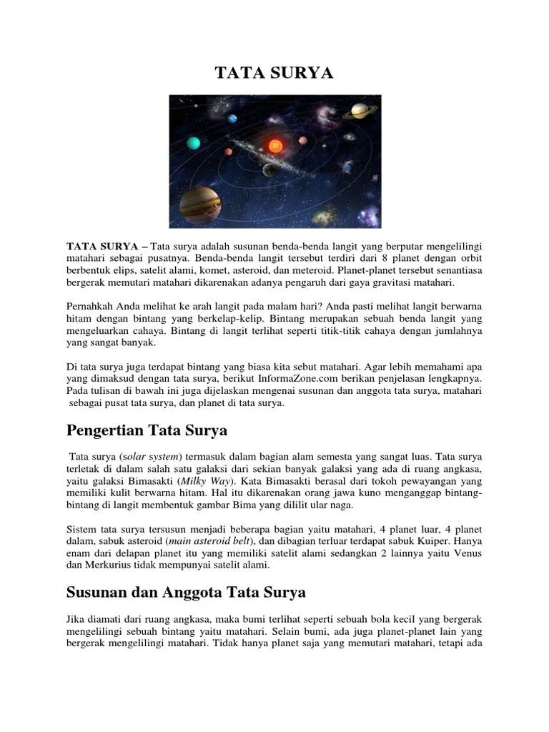 Apa Yang Dimaksud Tata Surya : dimaksud, surya, Surya