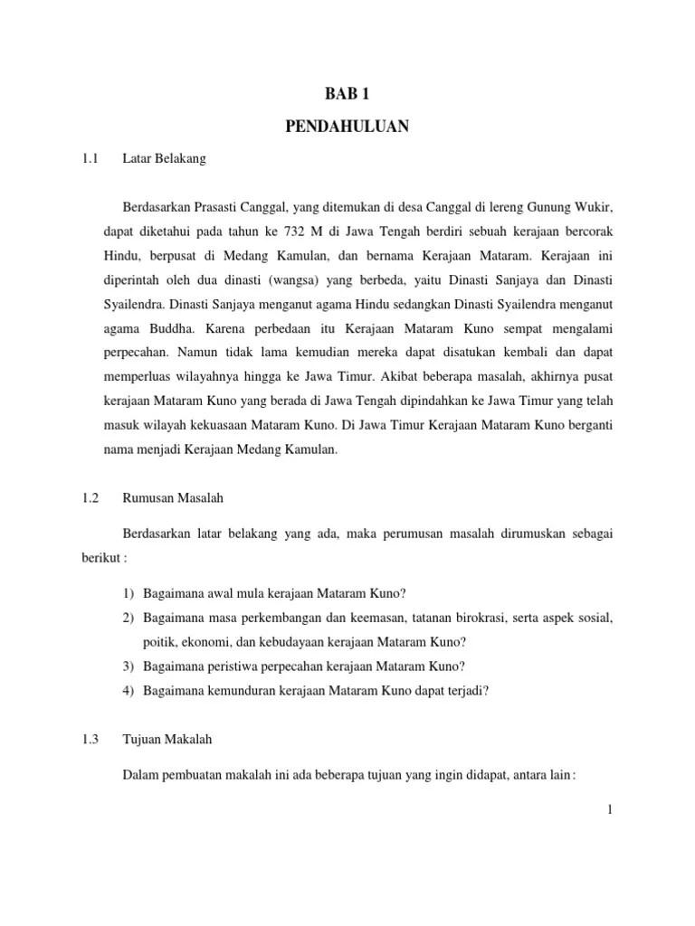 Makalah Kerajaan Mataram Kuno : makalah, kerajaan, mataram, Makalah, Sejarah, Kerajaan, Mataram