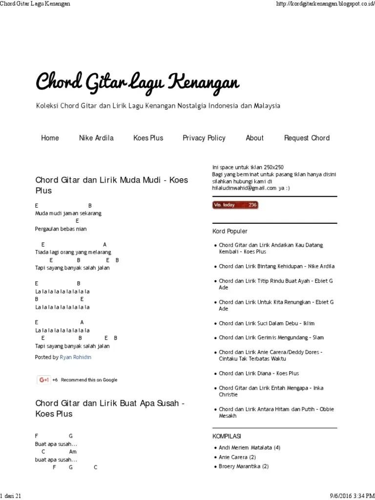 Chord Gitar Deddy Dores : chord, gitar, deddy, dores, Chord, Gitar, Kenangan.pdf