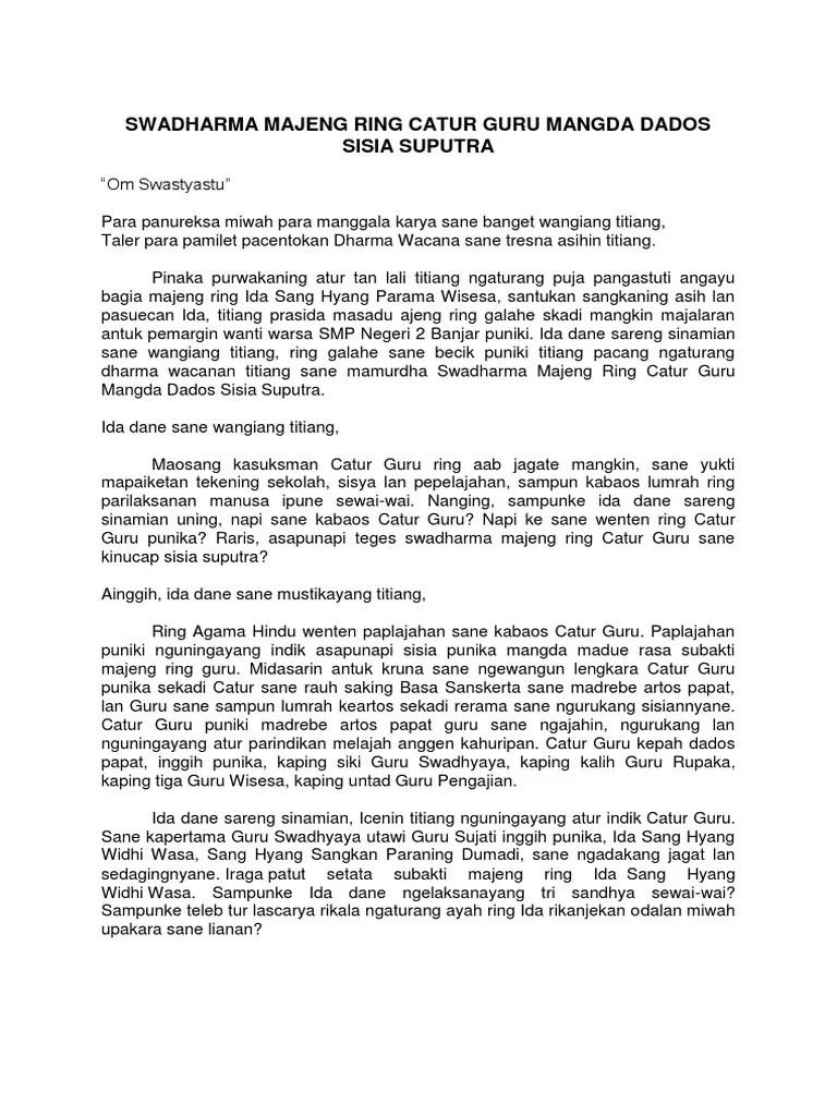 Contoh Dharma Wacana Bahasa Bali : contoh, dharma, wacana, bahasa, Tugas, Bahasa, Dharma, Wacana, Cute766