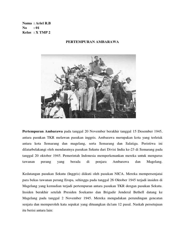 Peristiwa Pertempuran Ambarawa : peristiwa, pertempuran, ambarawa, Pertempuran, Ambarawa