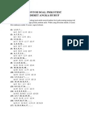 Tes Deret Angka : deret, angka, CONTOH, PSIKOTES, DERET, ANGKA.pdf