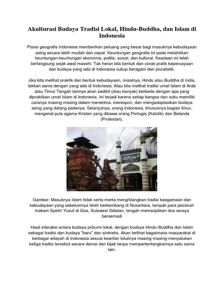 Akulturasi Budaya Di Indonesia : akulturasi, budaya, indonesia, Akulturasi, Budaya, Hindu, Budha, Islam