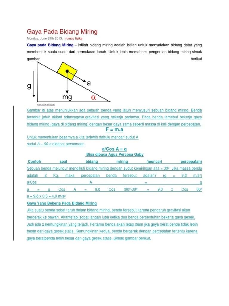 Gaya Pada Bidang Miring : bidang, miring, Bidang, Miring, 1.docx