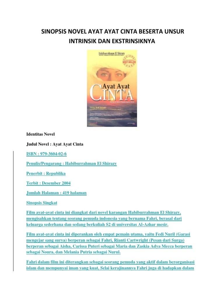 Sinopsis Novel Ayat Ayat Cinta : sinopsis, novel, cinta, Amanat, Novel, Cinta, Galeri