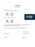 Surat Kuasa Cetak Buku Tabungan : surat, kuasa, cetak, tabungan, Contoh, Surat, Kuasa, Rekening, Koran