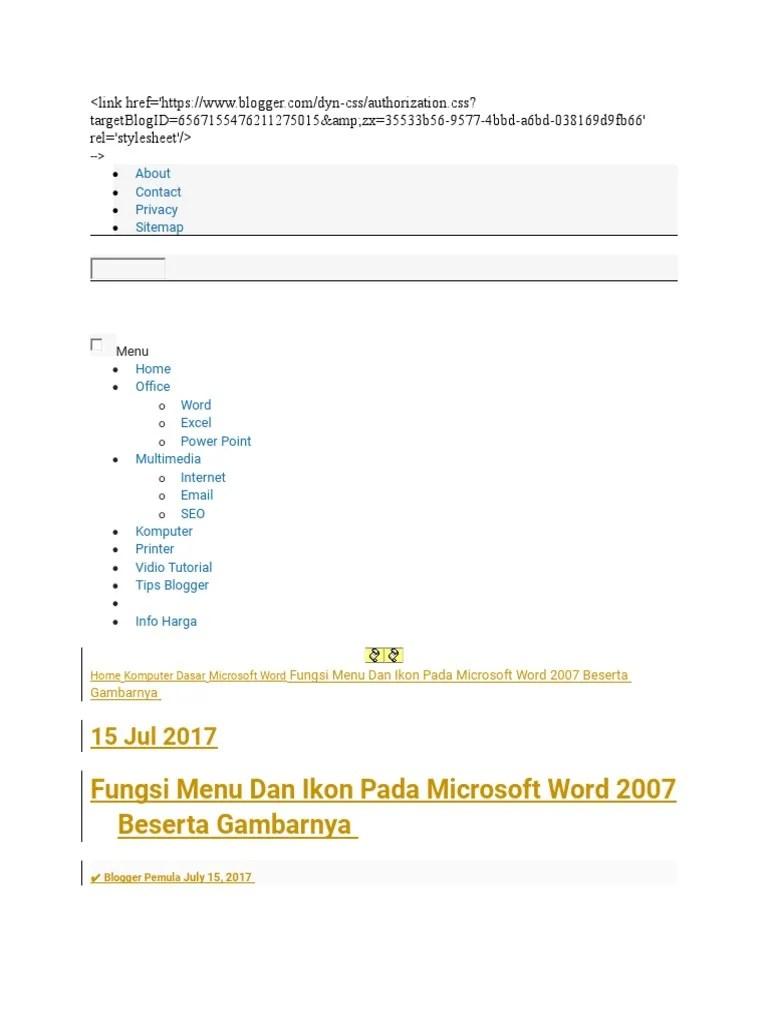 Fungsi Menu Dan Ikon Pada Microsoft Powerpoint 2007 : fungsi, microsoft, powerpoint, Fungsi, Microsoft, Beserta, Gambarnya, Sinau, Komputer