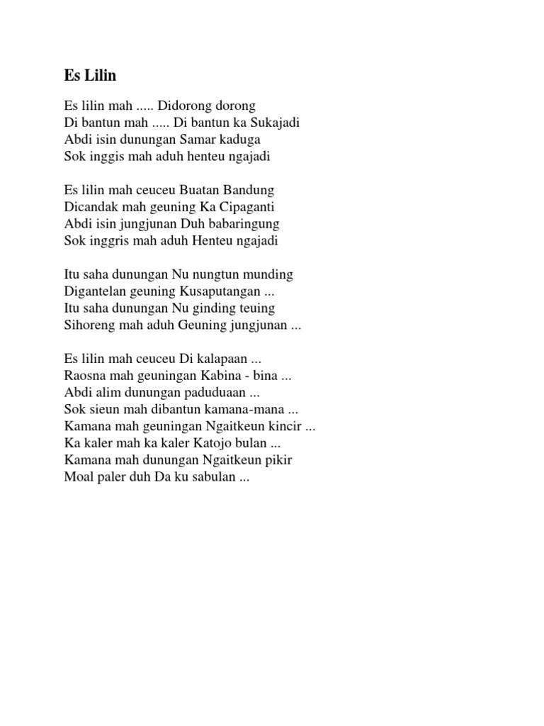 Lirik Lagu Es Lilin : lirik, lilin, Kumpulan, Lirik, Sunda, Lilin, Arsia